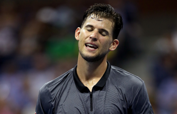 Thiem's missed volley on deuce proved to be costly (Matthew Stockman/Getty Images)