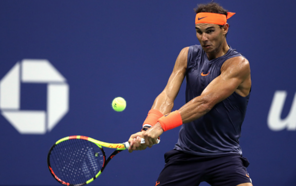 Nadal's backhand down the line was key in the set (Matthew Stockman/Getty ImageS)