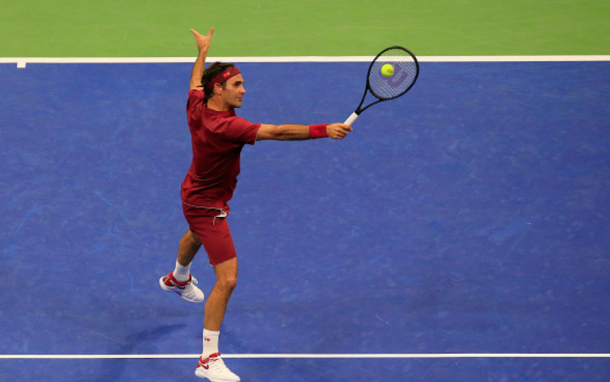 Federer was attacking the net early and often (Jaime Lawson/Getty Images)