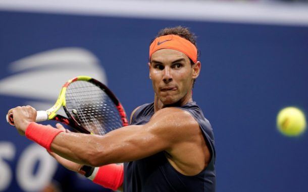 Nadal missed a number of routine volleys in this match (Anadolu Agency/Getty Images)