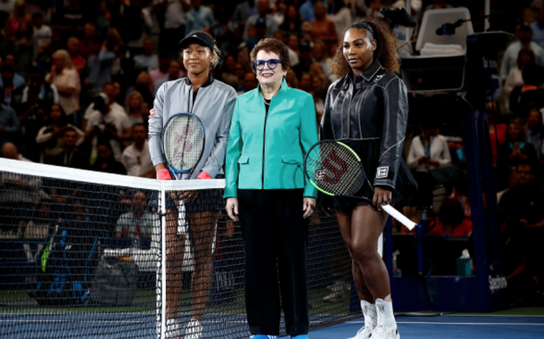 The future, the past, and, the present of women's tennis. Naomi Osaka, Billie Jean King, and Serena Williams (Julian Finney/Getty Images)