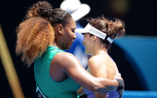 Serena consoles a tearful Tatjana Maria at the net (Anadolu Agency/Getty Images)