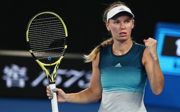 Caroline Wozniacki stole the second set with a late break (Scott Barbour/Getty Images)