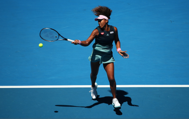 Osaka's forehand finally began to find the mark (Cameron Spencer/Getty Images)