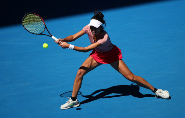 Hsieh was troubling Osaka with her groundstrokes