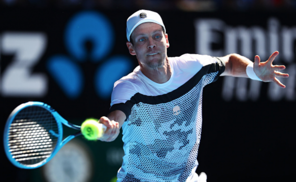 Berdych found the rhythm on his forehand side just a little too late (Julian Finney/Getty Images)