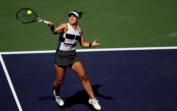 Bianca Andreescu's forehand was causing problems for Kerber (Clive Brunskill/Getty Images)
