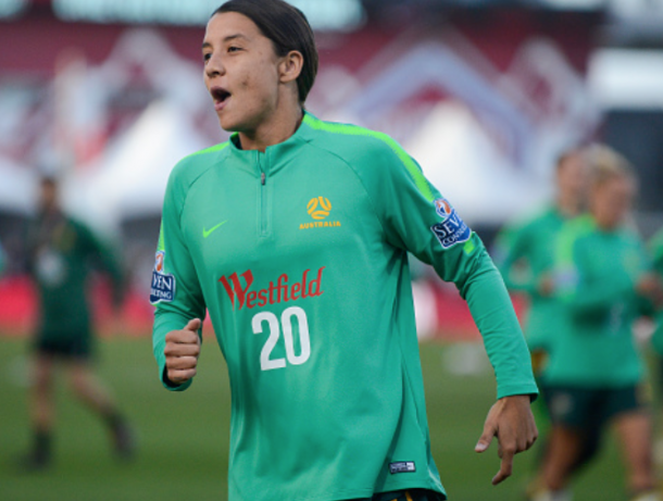 Australia captain and leading NWSL scorer Sam Kerr. (Photo by Michael Ciaglo/Getty Images)