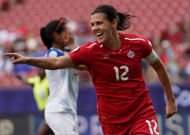 Canada captain Christine Sinclair. (Photo by Action Foto Sport/NurPhoto via Getty Images)