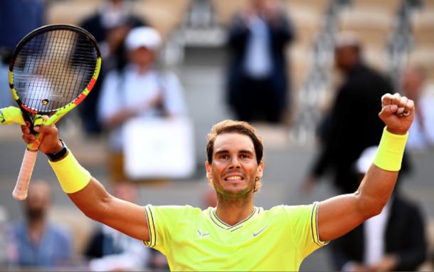 Nadal celebrates his victory over Kei Nishikori (Clive Mason/Getty Images)