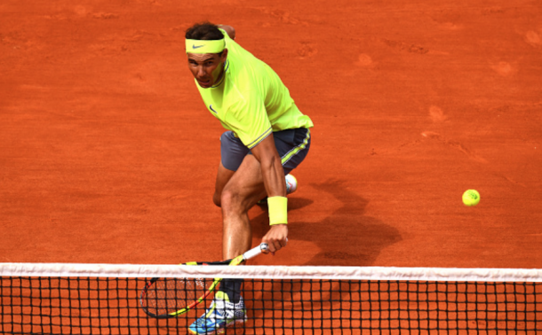 Nadal was once again brilliant at the net (Clive Mason/Getty Images)