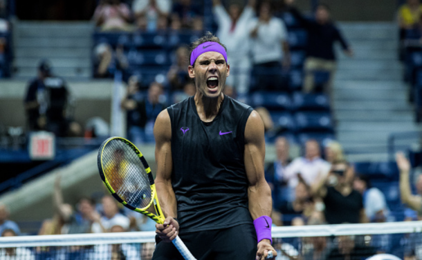 Nadal reacts to his win over Diego Schwartzman (Chaz Niall/Getty Images/Zimbio)