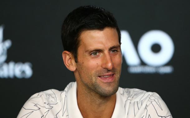 Djokovic talking to press ahead of the Australian Open (Mike Owen/Getty Images)