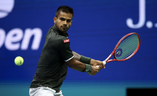 Nagal in action at the 2019 US Open (Photo: Clive Brunskill)