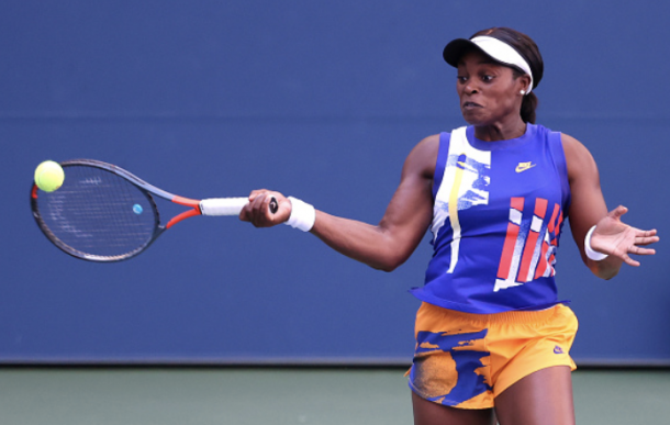 Stephens played a clean and strong opening set (Photo: Al Bello)
