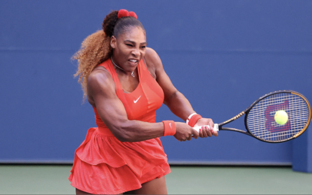 Serena began to find her groove in the second set (Photo: Al Bello)