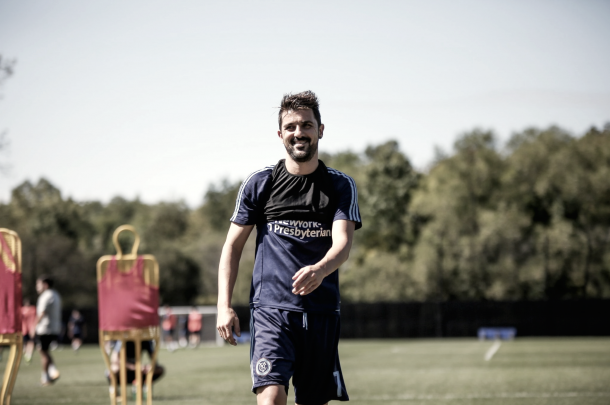 David Villa in training this week. | Photo: NYCFC