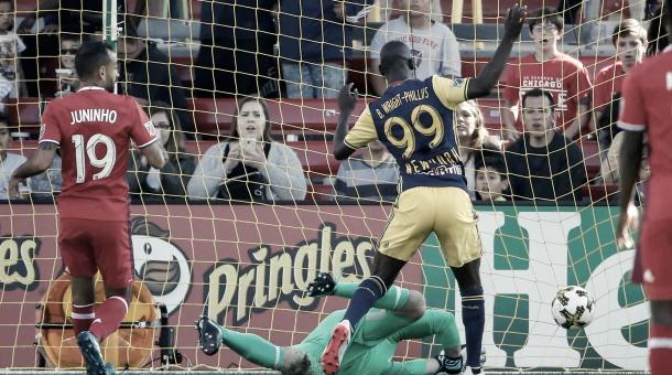 Bradley Wright-Phillips got on the scoresheet in both meetings between the two clubs in 2017. | Photo: New York Red Bulls