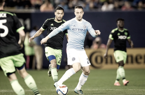 RJ Allen on his MLS debut for New York City FC in 2015. | Photo: NYCFC