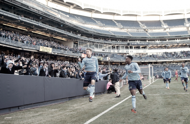 Anton Tinnerholm celebrating his goal. | Photo: New York City FC