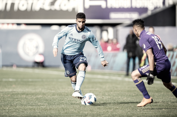 Ismael Tajouri made his first MLS start on Saturday. | Photo: New York City FC