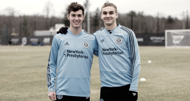 NYCFC's first ever homegrown signings. | Photo: New York City FC