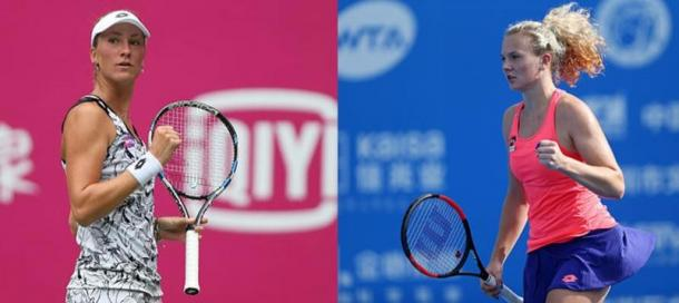 Allertova (left) and Siniakova (right) lead an unexperienced Czech contingent. Photo credits: Zhong Zhi/Getty Images.