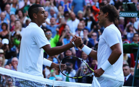 Kyrgios beat Nadal at Wimbledon in four sets in 2014 (Getty Images/Al Bello)