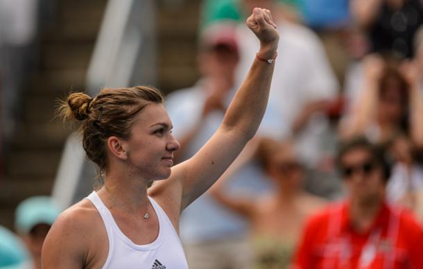 Simona Halep after defeating Svetlana Kuznetsova in Montreal   Photo: Minas Panagiotakis/ Getty Images
