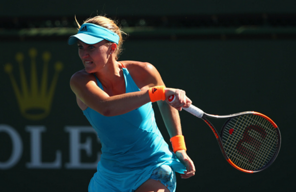Kristina Mladenovic in her second round against Annika Beck | Photo: Clive Brunskill / Getty Images
