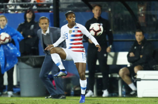 Crystal Dunn has found a home on defense for the USWNT despite playing more offensive roles for her club teams. | Photo: Omar Vega - Getty Images