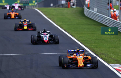 Fernando Alonso durante el Gran Premio de Hungria. (Getty Images)