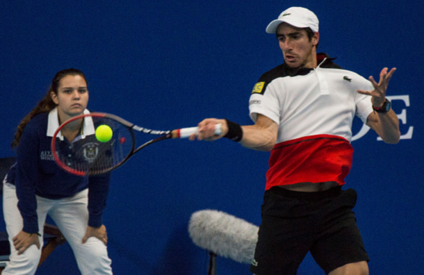 ​Pablo Cuevas strikes a forehand (Photo: Pupo/Getty Images)