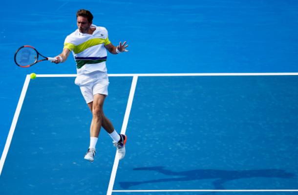 Nicolas Mahut in round one action (Photo: Brett Hemmings/Getty images)