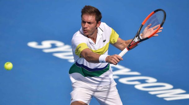 Nicolas Mahut during the Sydney International (Photo: Brett Hemmings/Getty Images)