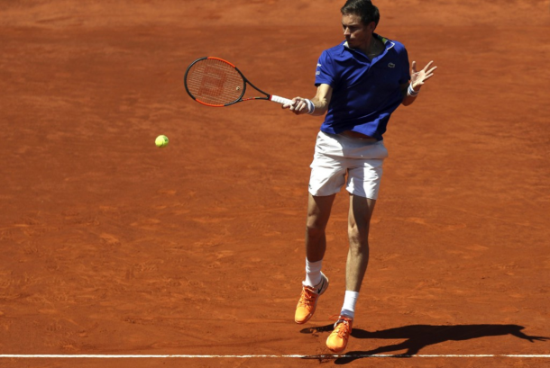 Nicolas Mahut at the Madrid Open, where he won his only match on clay thus far (Photo: Julien Finney/Getty Images)