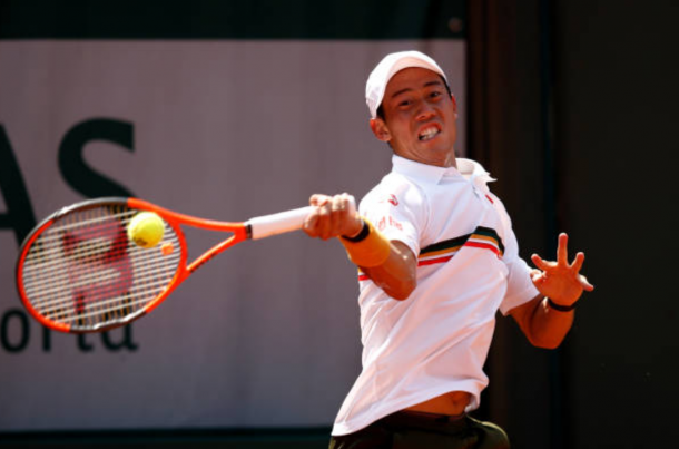 Kei Nishikori in action at the French Open (Photo: Adam Pretty/Getty Images)