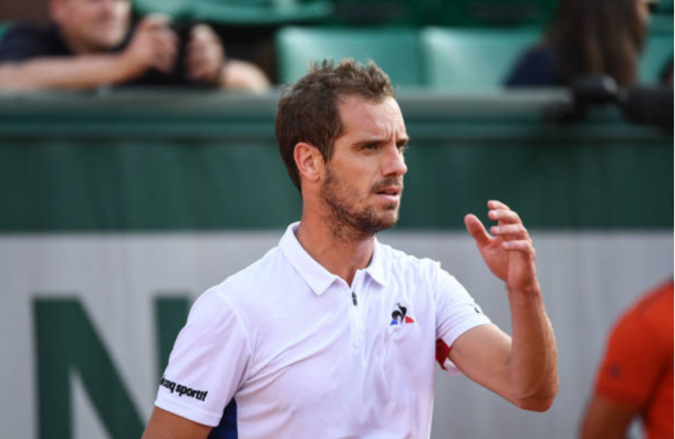 Richard Gasquet in between points (Photo: Anthony Dibon/Getty Images)