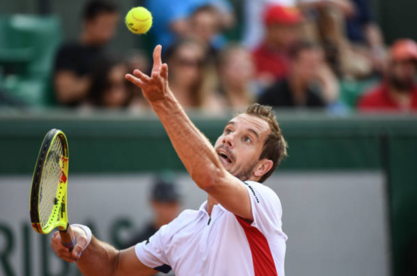 Richard Gasquet serves for a win (Photo: Anthony Dibon/Getty Images)