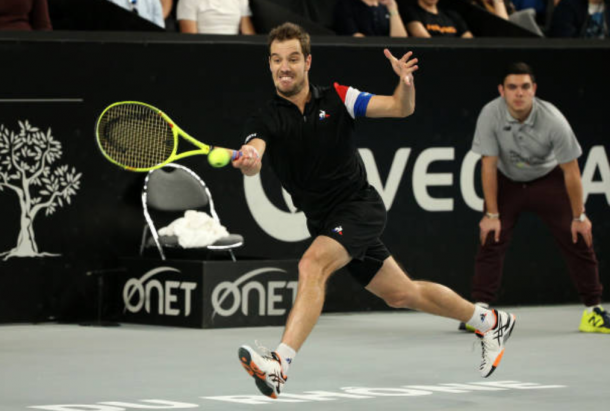 Richard Gasquet in action at the Open 13 in Marseille (Photo: Jean Catuffe/Getty Images)
