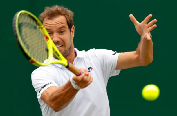 Richard Gasquet during Wimbledon, where he fell in round one (Photo: Adrian Dennis/Getty Images)