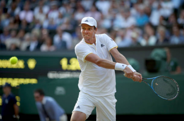 Tomas Berdych during Wimbledon (Photo: Tim Clayton/Getty Images)