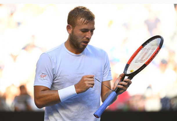 Dan Evans competing at the Australian Open earlier this year (Photo:Quinn/Rooney/Getty Images)