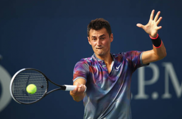 Bernard Tomic in action at the US Open earlier this year where he fell in round one (Photo: Clive Brunskill/Getty Images)
