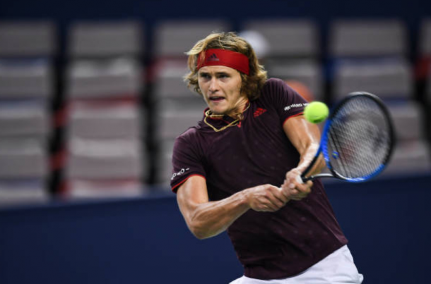 Alexander Zverev hits a forehand (Photo: Xin Li/Getty Images)