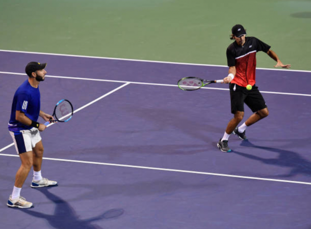 Santiago Gonzalez and Julio Peralta in action at the Shanghai Rolex Masters (Photo: Kevin Lee/Getty Images)