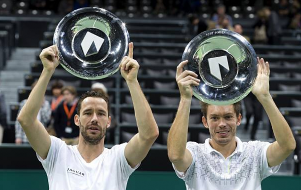 Michael Llodra and Nicolas Mahut captured their biggest title at Rotterdam (Photo: Koen Suyk/Getty Images)
