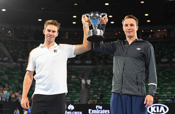 Henri Kontinen and John Peers claim their maiden Grand Slam title at the Australian Open (Photo: Quinn Rooney/Getty Images)