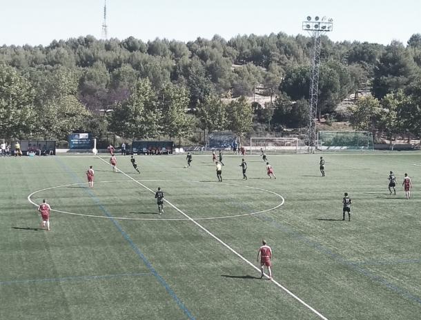 La ED Moratalaz marcó el gol de la victoria en el minuto 60 gracias a una contra culminada correctamente por Vasco. Fotografía: Francisco Nieto.