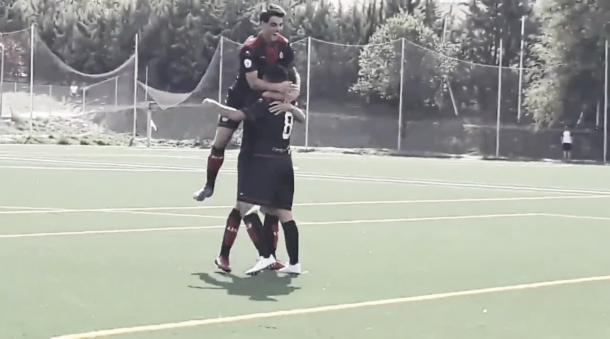 La AD Unión Adarve celebra el gol de la victoria de la jornada pasada en el Vicente del Bosque ante el San Fernando de Henares. Fotografía: Twitter de la AD Unión Adarve.